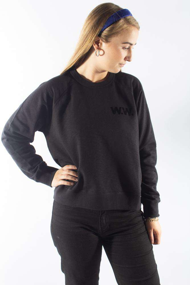 Jerri Sweatshirt - Black - Wood Wood - Sort M