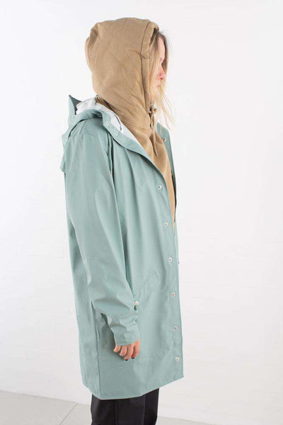 Dusty Mint Long Jacket regnfrakke fra Rains - 1