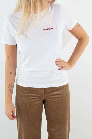 Eden T-shirt - Bright White fra Wood Wood