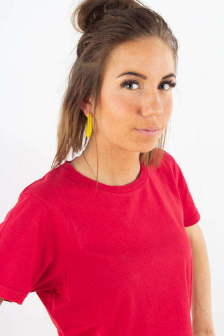 Light Organic Tee - Scarlet Red fra Colorful Standard