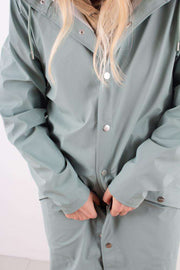 Dusty Mint Long Jacket regnfrakke fra Rains - 3