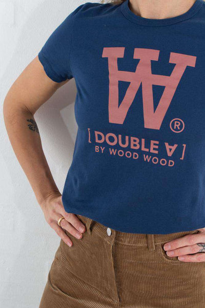 Uma T-shirt - Blue fra Wood Wood