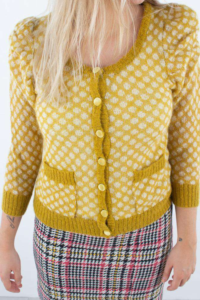 Ariella Cardigan - Yellow - Gul L