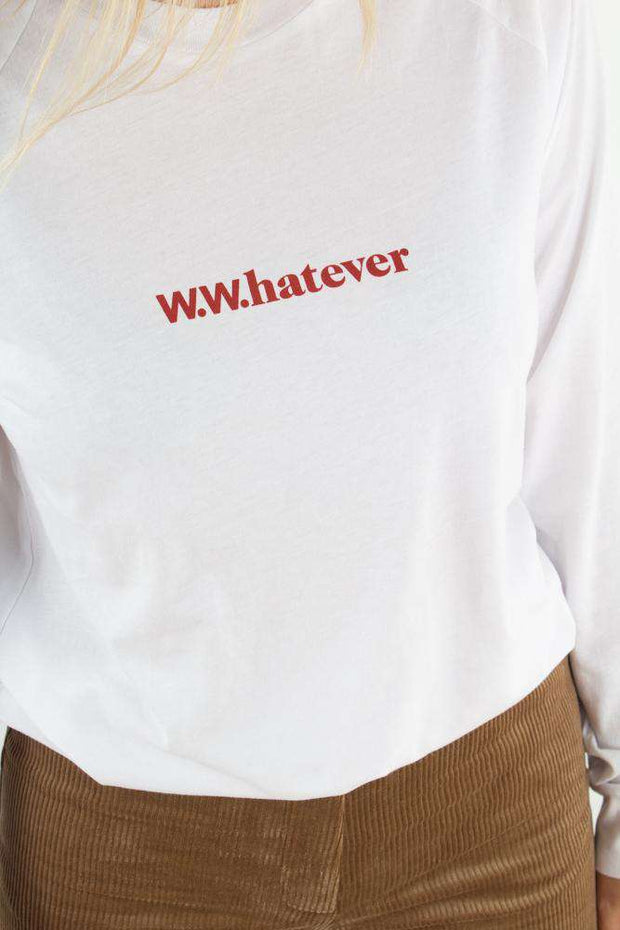 Halli Long Sleeve - Bright white fra Wood Wood