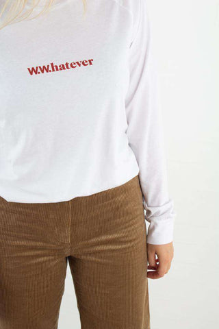 Halli Long Sleeve - Bright white fra Wood Wood - logo
