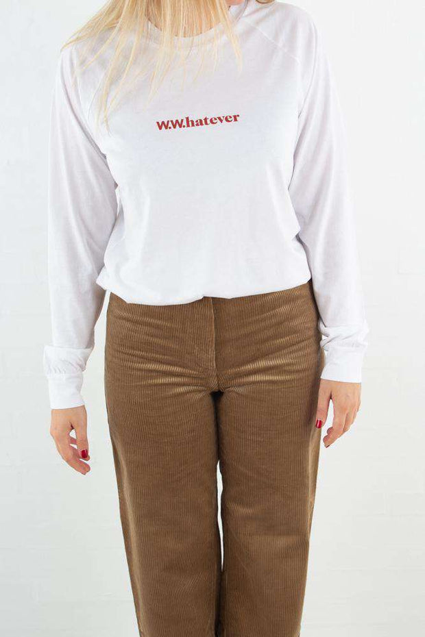 Halli Long Sleeve - Bright white fra Wood Wood - outfit