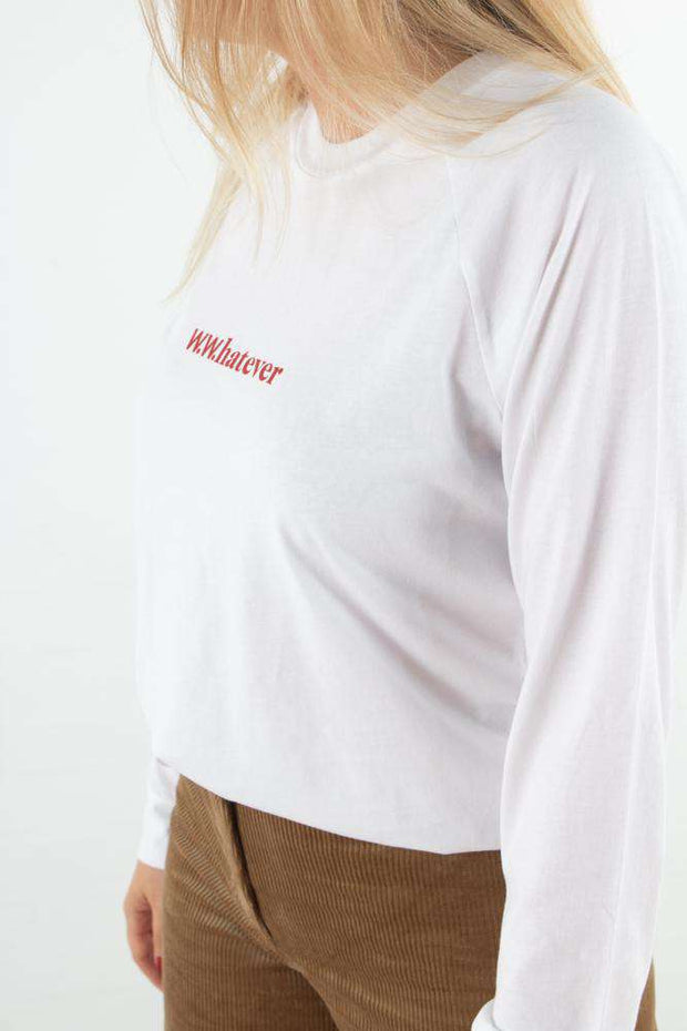 Halli Long Sleeve - Bright white fra Wood Wood - fra siden