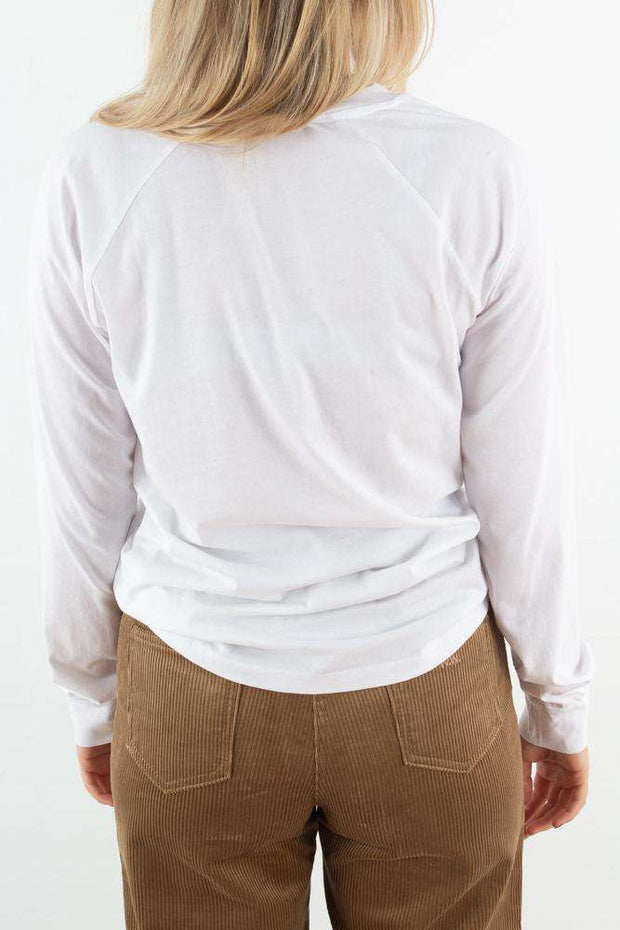 Halli Long Sleeve - Bright white fra Wood Wood - bagfra