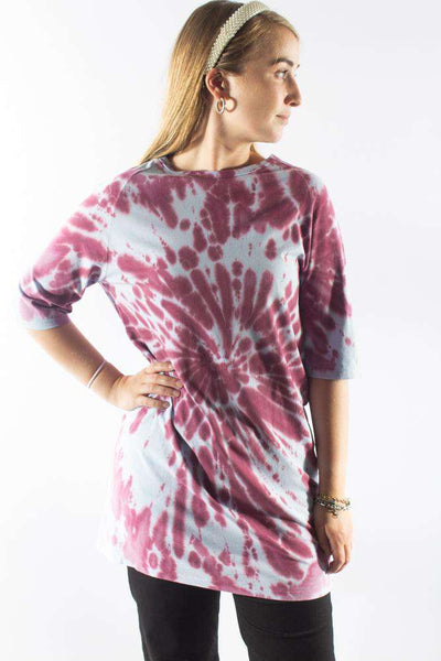 Oversized Tie Dye T-shirt Dress - Purple - NA-KD 1
