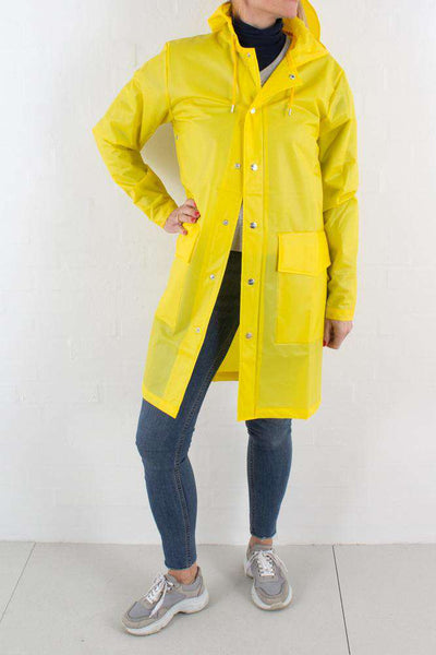 Foggy Yellow Hooded Coat fra Rains - 1