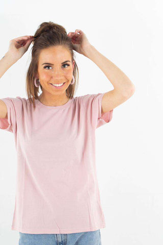 Light Organic Tee - Faded Pink fra Colorful Standard