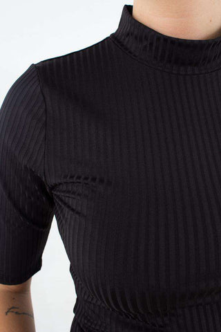 Rollo Turtleneck - Black fra Gestuz - front