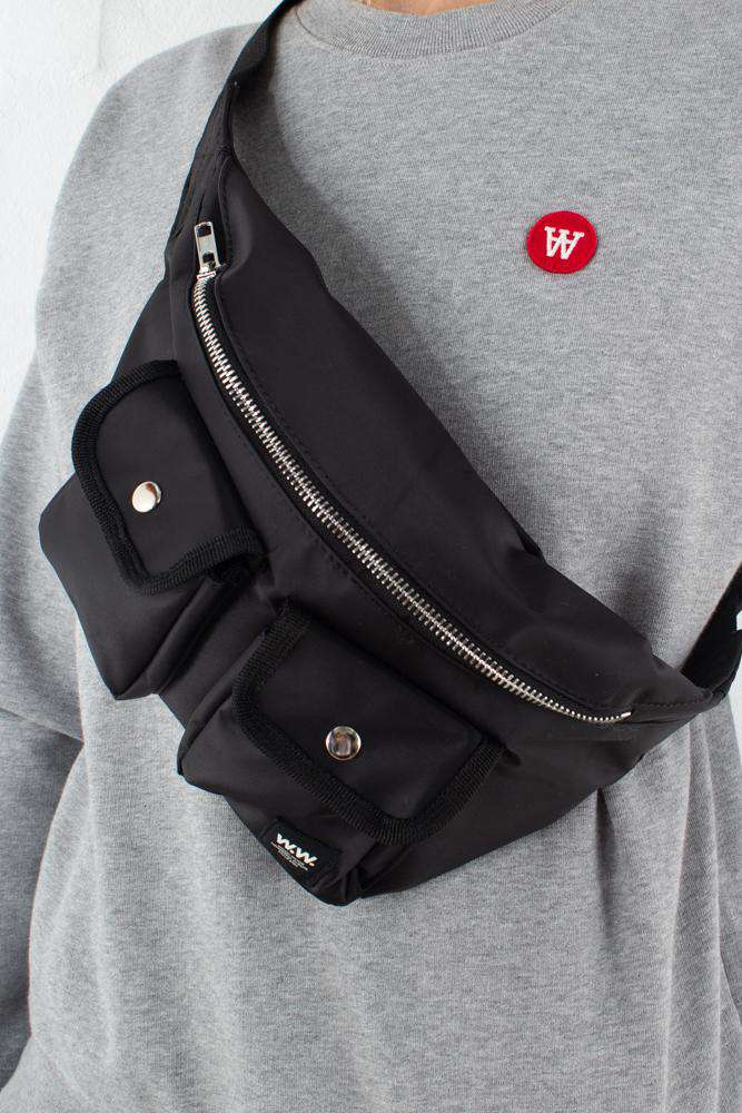 Gray Bumbag - Black - Wood Wood - Sort One Size