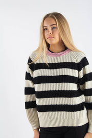 Recycled Favorite Wool Ketty- Ecru/Black-Rose- Mads Nørgaard 4