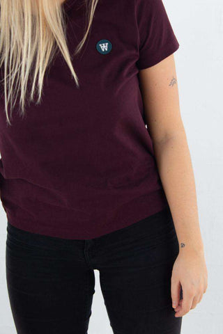 Uma T-shirt - Burgundy -fra Wood Wood