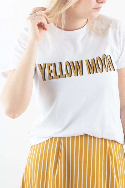 MoonGZ tee i Bright White fra Gestuz
