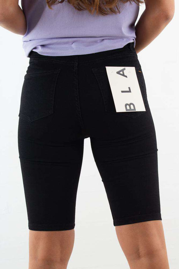 Jade HW Shorts Jeans - Black - Blanche