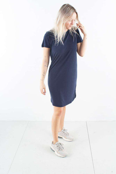 Larah Navy Blazer Blå T-shirt Kjole Minimum