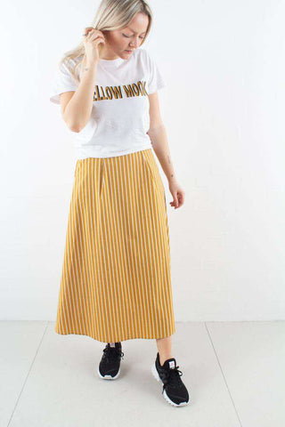 BethanyGZ skirt i Narcissus Yellow fra Gestuz