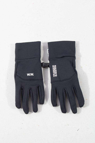 Holger Gloves Black sorte hansker Wood Wood