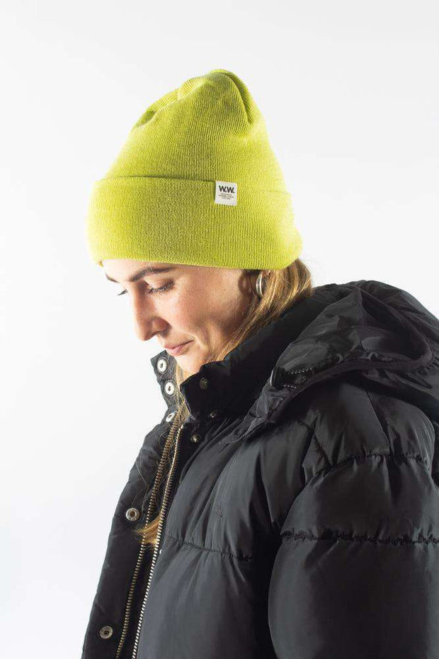 Gerald Tall Beanie - Bright Green - Wood Wood
