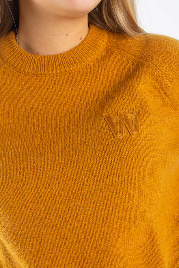 Asta Sweater -Mustard - Wood Wood Qnts3