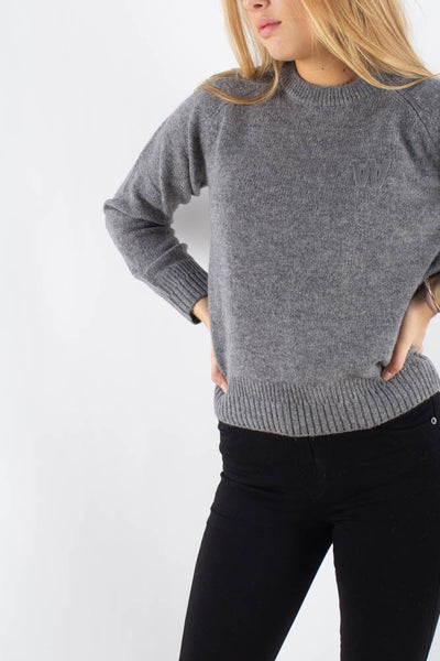 Asta Sweater -Grey Melange - Wood Wood Qnts1
