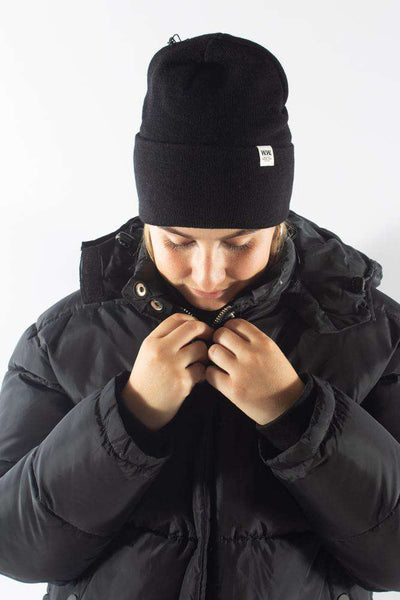 Gerald Tall Beanie Black sort hue Wood Wood