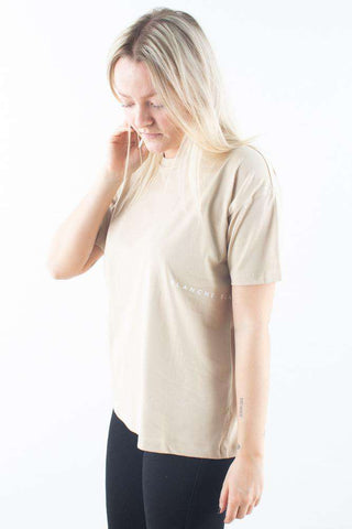 beige basic Main Light T-shirt Humus Blanche
