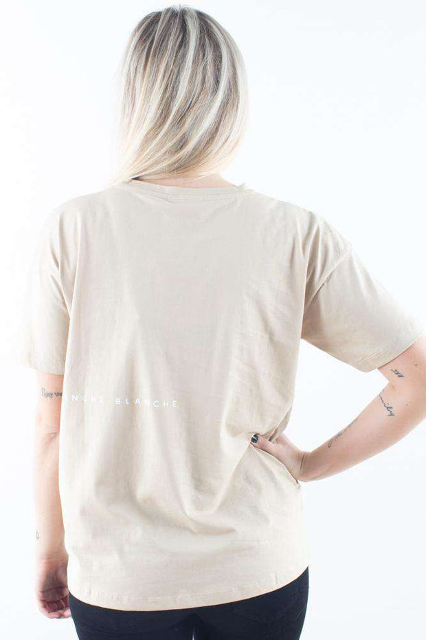 beige basic Main Light T-shirt Humus Blanche 1