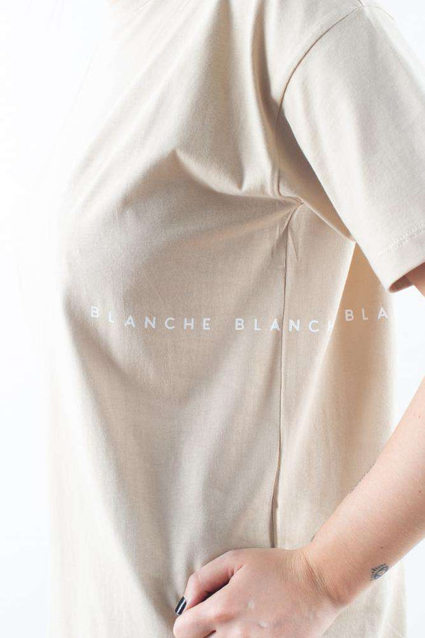 beige basic Main Light T-shirt Humus Blanche 2