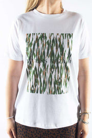 Cleo Camou Tee - Deep forest - Camou Artwork - Bruuns Bazaar 1