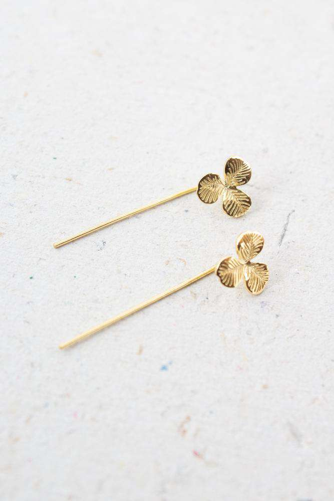 Clover Earring - Guld - Sui Ava - Guld One Size