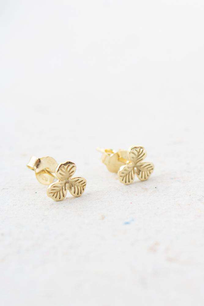 Clover Earring Mini - Guld - Sui Ava - Guld One Size