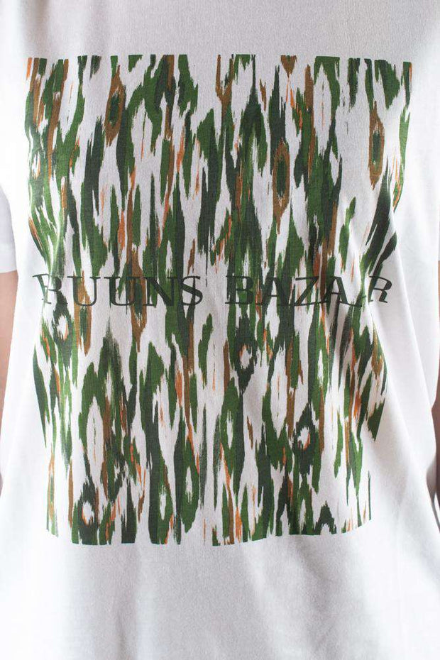 Cleo Camou Tee - Deep forest - Camou Artwork - Bruuns Bazaar 4