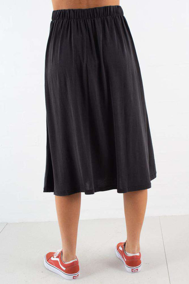 Regisse midi skirt - Black - Minimum