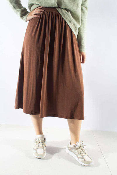 Regisse Midi Skirt Potting Soil brun nederdel Minimum