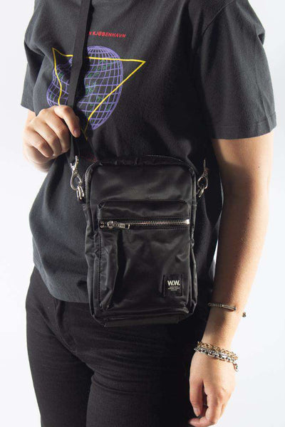 Rena Shoulderbag Black sort taske Wood Wood