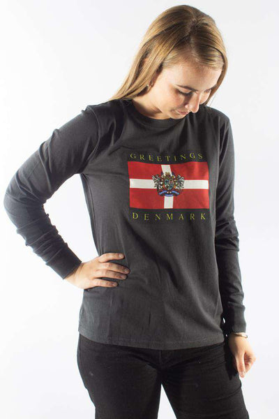 Artwork Long Sleeve Tee Faded Black sort Han Kjøbenhavn