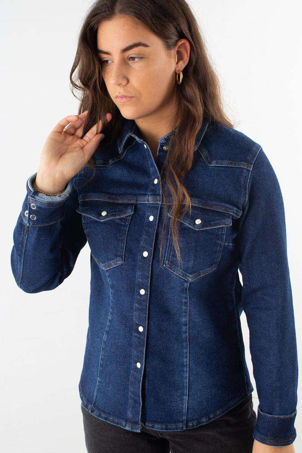 Astrid Shirt - Denim blue fra Gestuz 1