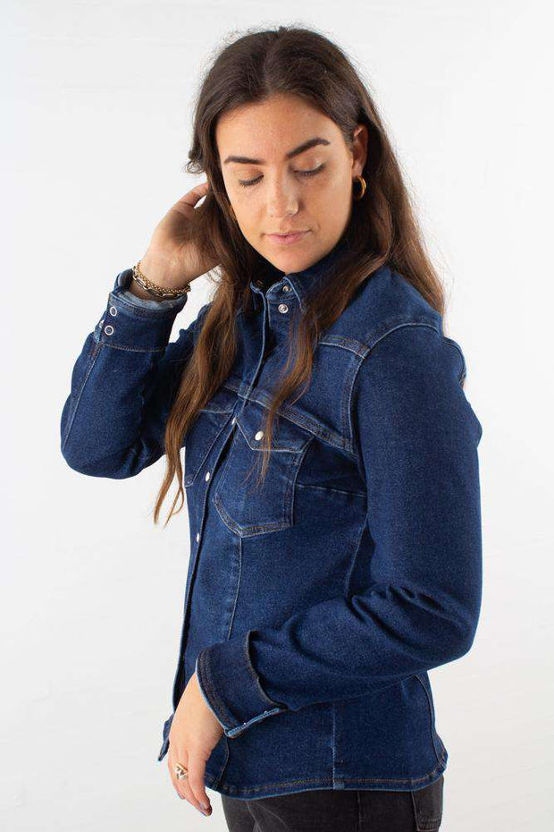 Astrid Shirt - Denim blue fra Gestuz 2