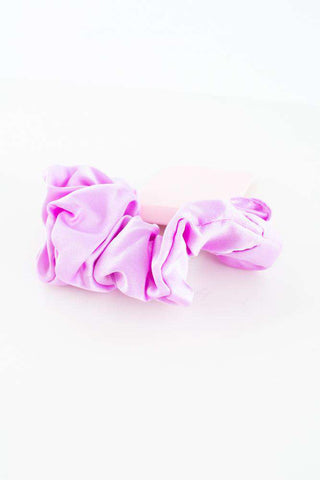 Satin Scrunchie - Purple - Sui Ava