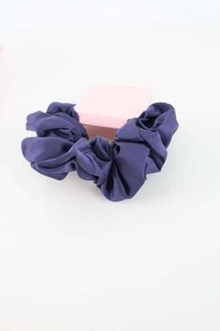 Satin Scrunchie - Dark blue - Sui Ava
