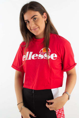 Alberta Crop T-shirt - Red Fra Ellesse