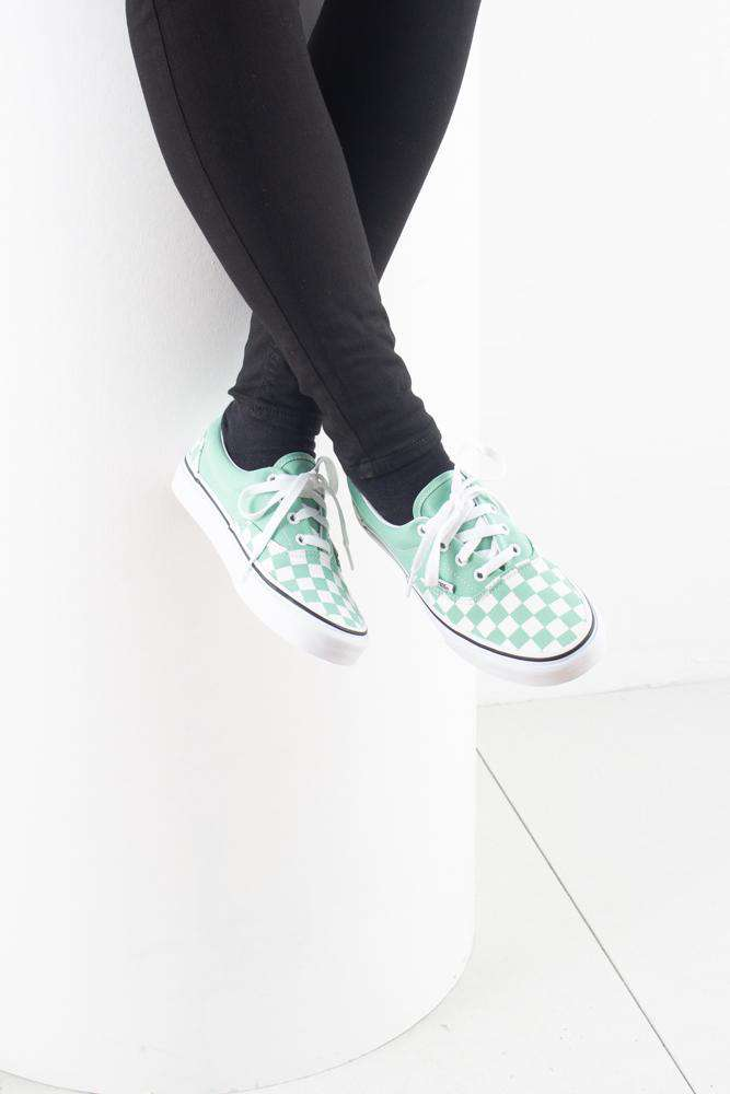 Era Checkerboards - Neptune green - Vans - Grøn 36