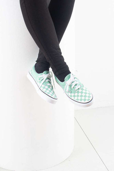 Era Checkerboards - Neptune green - Vans 5