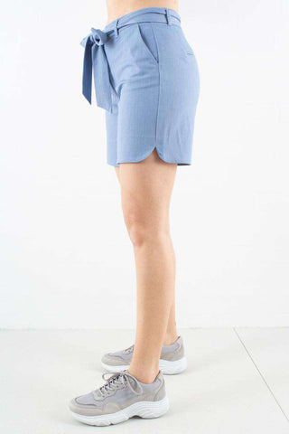 Carine Shorts i Blue Chambray Tie fra 2ND ONE