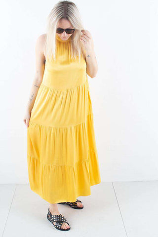 Bruuns Bazaar Sofie Maja Dress i Peachy Yellow