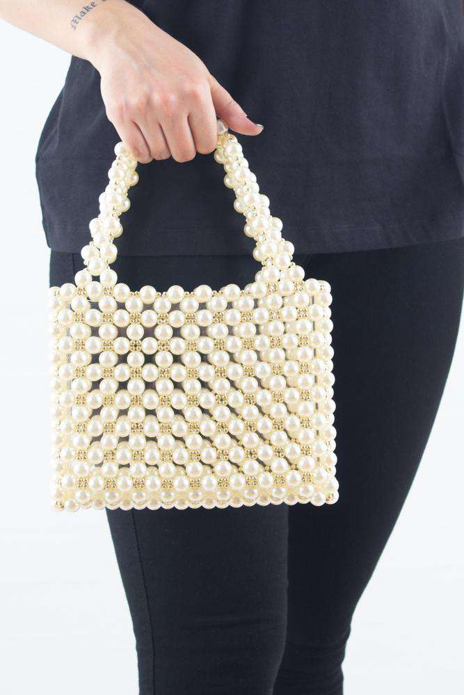 Magda Pearl Bag – White – Sui Ava – Hvid One Size