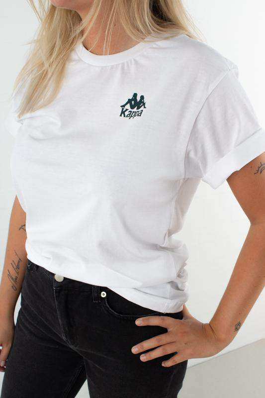 T-shirt Auth. Wollie - White/Green - Hvid/Grøn M